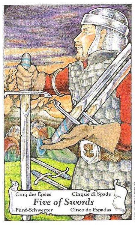 Venus In Aquarius Relates To Tarot 5 Of Swords