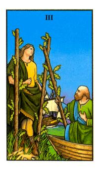 Connolly Tarot - 3 of wands