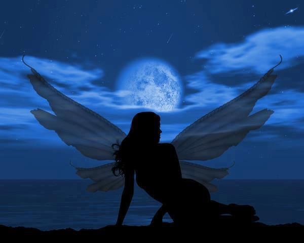 Fairy on a Moonlit Beach