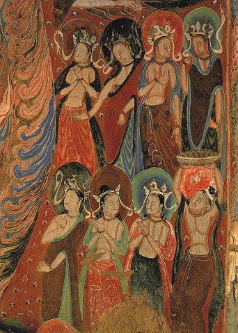 Bodhisattvas cave mural