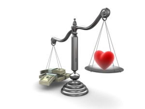 scales_love or money