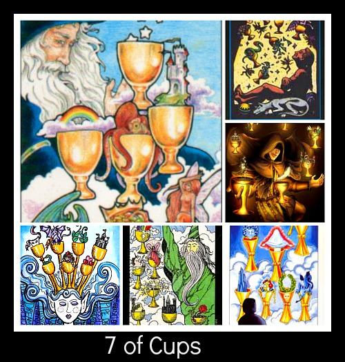 7 of cups collage image