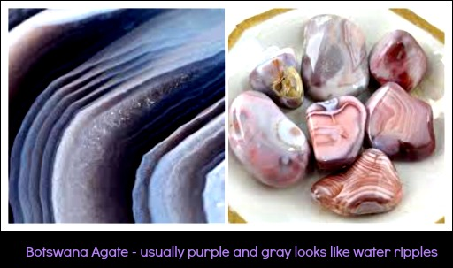 Botswana Agate collage