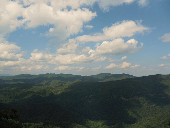 July 18 2014 shadow clouds in the mountains