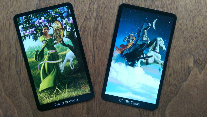 Page of Pentacles with The Chariot – Psychic Joy Star's Blog