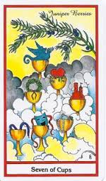 7 of cups Herbal tarot