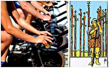 spin bike 9 wands collage